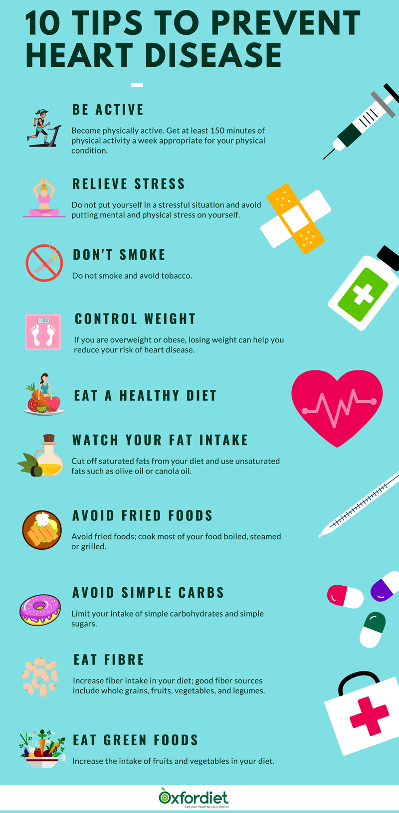 10 tips to prevent heart disease