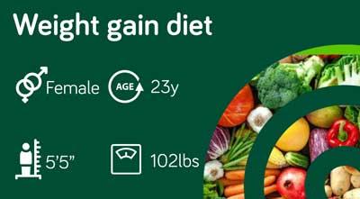 Weight gain diet: sample 119