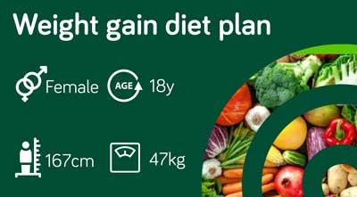 Weight gain diet plan: sample 120