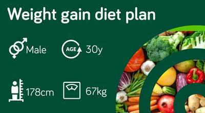 Gain weight diet plan: sample 121