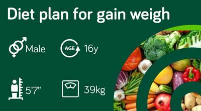Online weight gain diet plan: sample 123