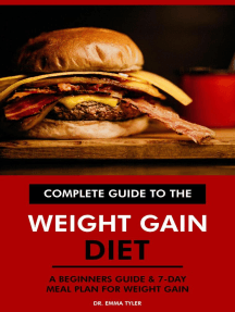 Complete Guide to the Weight Gain Diet